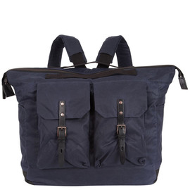 ALLY CAPELLINO - NAVY FRANK WAXED COTTON RUCKSACK