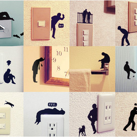 Wall Story - Removable Wall Stickers Ojisan