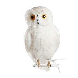 PUEBCO - ARTIFICIAL BIRDS - OWL WHITE/LARGE
