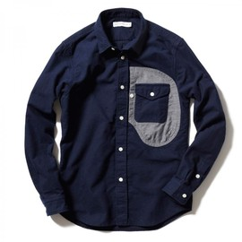 HEAD PORTER PLUS - POCKET SHIRT NAVY