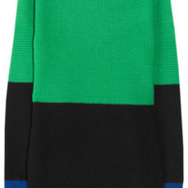 J.CREW - Color-block waffle-knit cashmere sweater