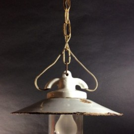 "ドイツ・アンティーク - 1930's ""Shabby"" German Deco Pendant Light"