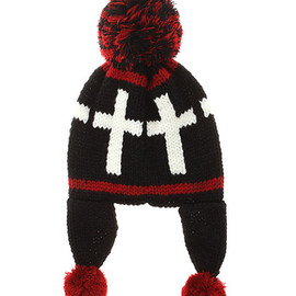 Candy stripper - CANDY CROSS KNIT CAP