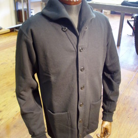 Pioneer tailoring ( WARP AND WOOF ) - Type 30's Shawl Collar Sweat Cardigan ( SAMPLE )