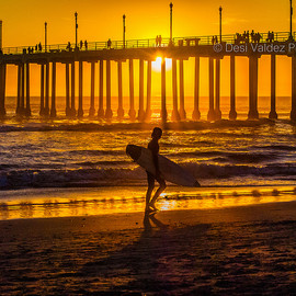 HB Pier Sunset w- surfer-1812 photo by Flickr