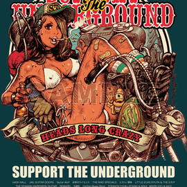 "Rockin'Jelly Bean - ""SUPPOT THE UNDERGROUND Ver.2"" Offsetprint Poster"