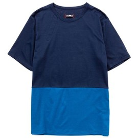 CASH CA - PANEL COLOR S/S TEE NAVY / CHARCOAL