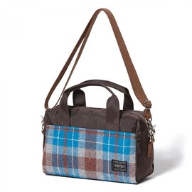 "HEAD PORTER - ""LESSON"" 2WAY BOSTON BAG (S) BLUE"