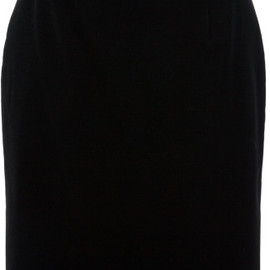 Christopher Kane - Black Velvet Pencil Skirt