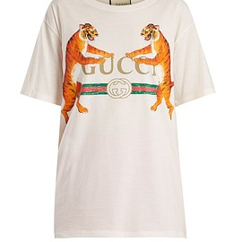 GUCCI - Resort 2018 Tiger-print jersey T-shirt