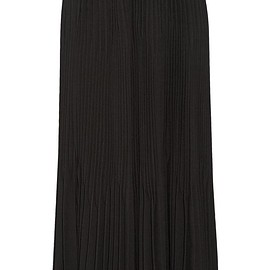 Theory - Laire pleated crepe midi skirt