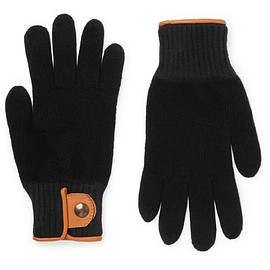 Oliver Spencer - Cross Country Leather-Trimmed Wool-Blend Gloves
