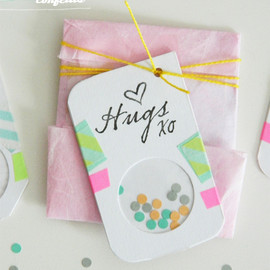 DIY - Tags confettis
