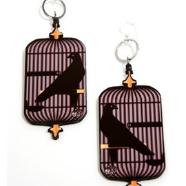 "Miss Wax - The ""Golden Cage"" Earrings"