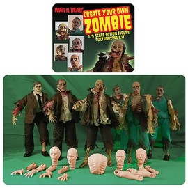 Create Your Own Zombie Customizable Action Figure Kit