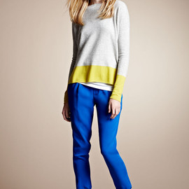 VINCE - Colorblock Cashmere Sweater