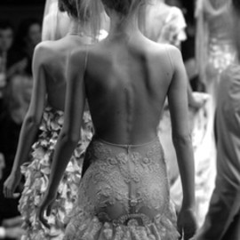 CHANEL - backless lace dress