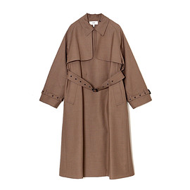 HYKE - WOOL TRENCH COAT