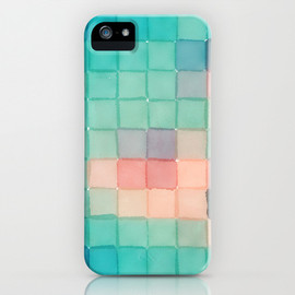 Society6 - Polaroid Pixels VI (Crabapple) iPhone & iPod Case
