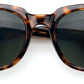 ROUND LEATHER TRIMMED SUNGLASSES