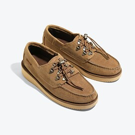 Engineered Garments - EG X SEBAGO OVERLAP - BEIGE WAXY SUEDE -