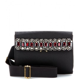 MARNI - CRYSTAL-EMBELLISHED PIQUÉ SHOULDER BAG