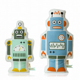 ferm LIVING - Playful Pillows 'Mr. Large Robot' & 'Mr. Small Robot'