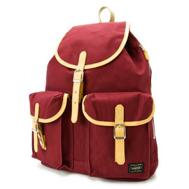 "HEAD PORTER - ""LX"" RUCK SACK BURGUNDY"