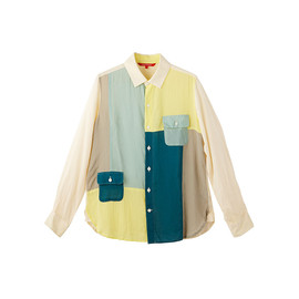TROPOPAUSE - Patchwork Tencel Shirt