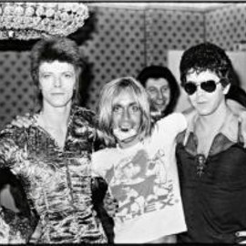 "Mick Rock - Original Print ""David Bowie, Iggy Pop And Lou Reed, 'the Terrible Trio: Teatime At The Dorchester', London, June"""
