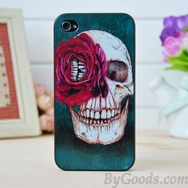 Punk Rose Skull Iphone Cases for Iphone 4/4s/5