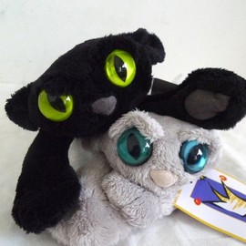 Manhattan Toys - Black Cat & Gray Cat