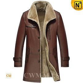 cwmalls - Mexico City Mens Leather Shearling Coat CW858108