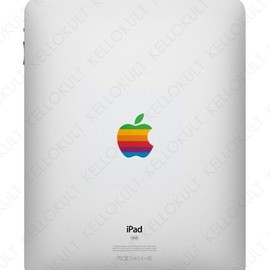 iPad Apple Retro Logo Overlay