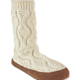 Jelly Beans - cable knit slipper socks