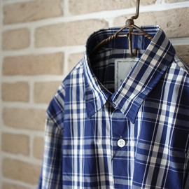 BLACK&BLUE - kirikae check shirt