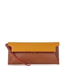 MARNI - Trunk envelope leather clutch