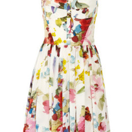 DOLCE&GABBANA - Floral-print silk crepe de chine dress