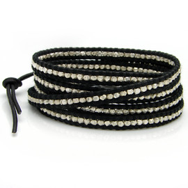CHAN LUU - Silver Wrap Leather Bracelet