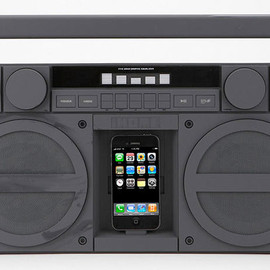 iHome - Portable FM Stereo Boombox for iPhone/iPod