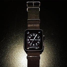 Apple - Watch SPORT BLACK 42mm + NATO STRAP