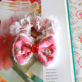Curly Collection - Big Ribbon chouchou♥Rose×Pink