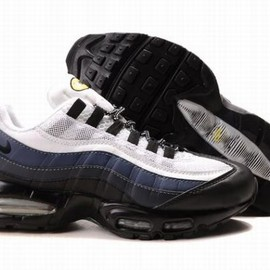 Nike Air Max 95 - Cheap Nike Air Max 95 Mens Running Shoes White Blue Black UK Sale
