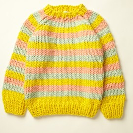 maiami - Valeria Thick Knit Sweater (yellow/ mint/ apricot)