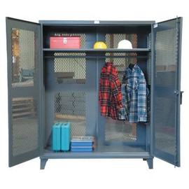 Strong Hold - All-Vented Wardrobe Cabinet with Full Rod