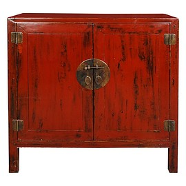 19th Century Chinese Red LacquerChest | Chinoiserie