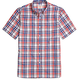 Brooks Brothers - Red and Blue Plaid Short-Sleeve Sport Shirt