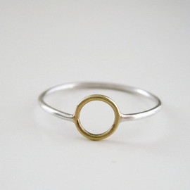 MeanderWorks - Circle Ring Gold and Silver
