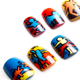 Nevertoomuchglitter - Keith Haring Nail Tips
