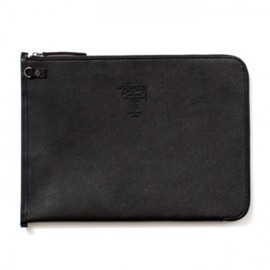 Stussy, JAM HOME MADE - Leather Clutch Bag - Black